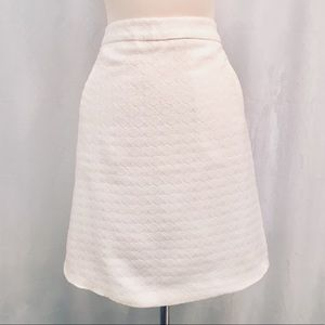 Dresses & Skirts - White Textured A-Lined Skirt